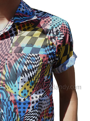 """Clark"" Retro Pop Art Shirt Sleeved Shirt"