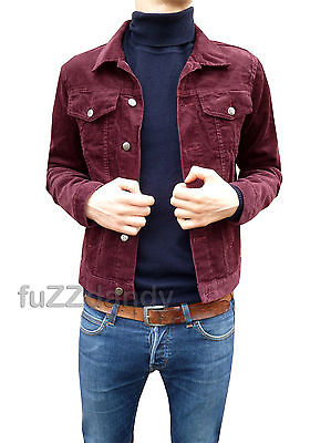 Anderson - Denim Corduroy Short Jacket (Burgundy Cord)