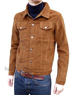 Anderson - Fitted Corduroy Cord Jacket - Ginger Tobacco Brown