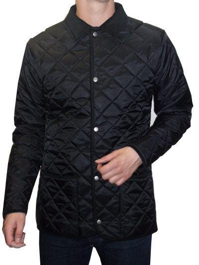 Bosworth - Quilted Jacket (black with black cord trims)