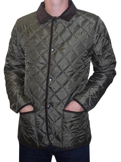 Bosworth - Quilted Jacket (green with brown cord trims)