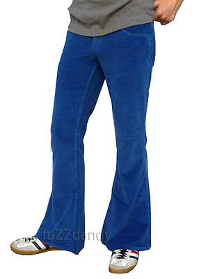 Classic Flares - Blue Corduroy Bell Bottoms (Blue)