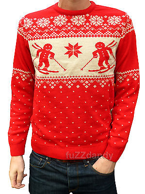 Gingerbread Man - Christmas Jumper (Red)