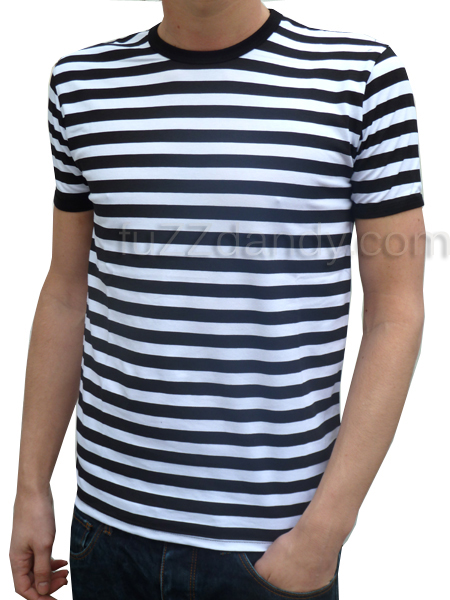 Mens Stripey Tee (black & white t-shirt)