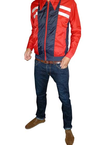 Red Racer - Retro Windbreaker Jacket