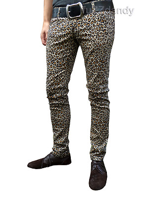 Ronnie - Leopard print hipsters Skinny Jeans (Drainpipes trousers)
